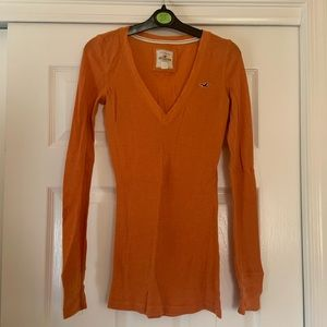 Orange Long Sleeved Thermal Shirt